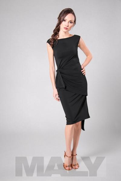 MF171601-Damenkleid mit Knoten