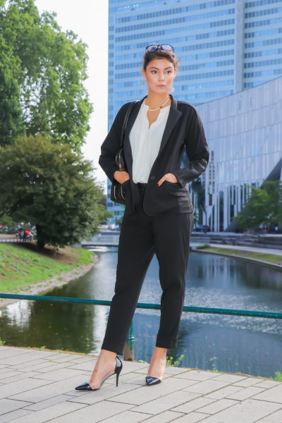 Business-Blazer in schlanker, taillierter Form